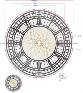 Elizabeth Tower dial factory drawing