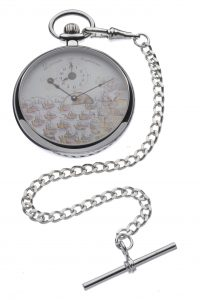 Nelson Pocket Watch, Chrome plated.
