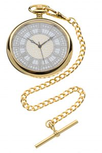 House of Commons dial gold-plated bespoke pocket watch