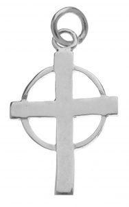 Small Lady Margaret Beaufort's Cross silver charm, bespoke jewellery by Mallards.