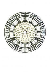 Photoshop image of the Elizabeth Tower dial