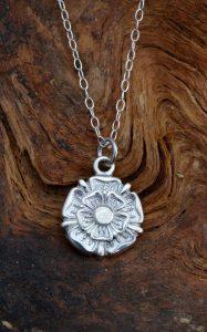 Silver Tudor Rose Pendant